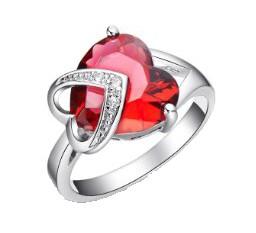 .925 Silver Garnet Ring