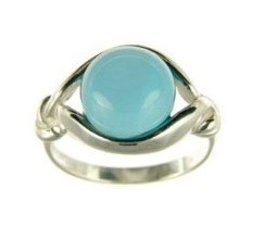 .925 Silver Aventurine Ring