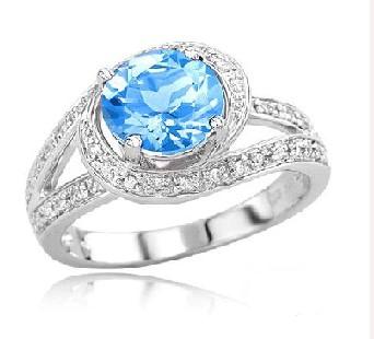 .925 Silver Swiss BT Ring