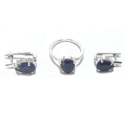 .925 Silver Blue Sapphire Set