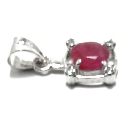 .925 Silver Ruby Pendant