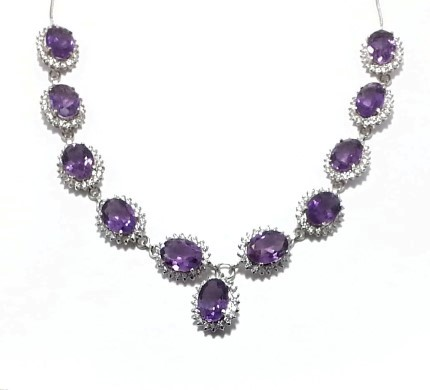.925 Silver Amethist Necklace