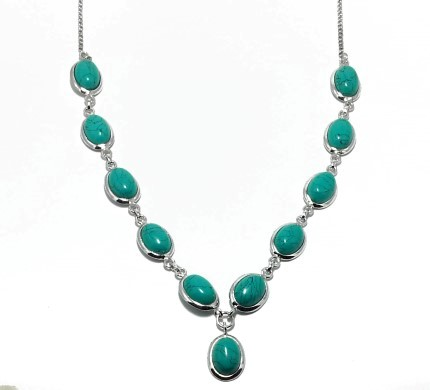 .925 Silver Turquise Necklace