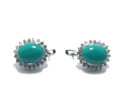 .925 Silver Turquise Ear Ring
