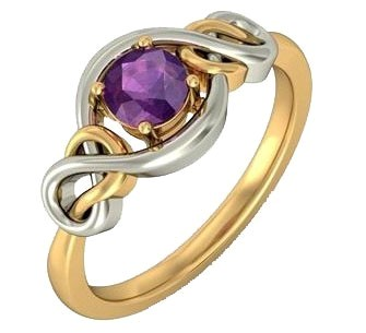 .585 Gold Amethist Ring