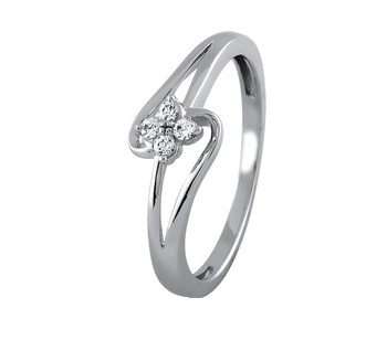 .585 White Gold Diamond Ring