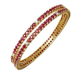 .585 Gold Ruby & Diamond Bracelet