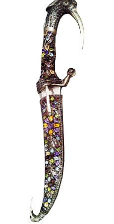 .925 Silver Multi Stone Sword